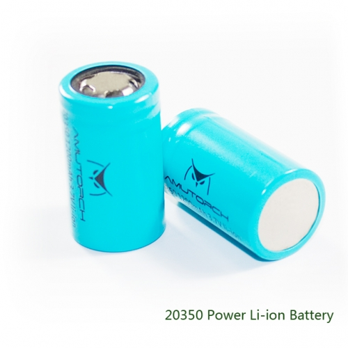 AMUTORCH  2 pcs of 20350 Power Li-ion Battery . Check country list before placing order!!!